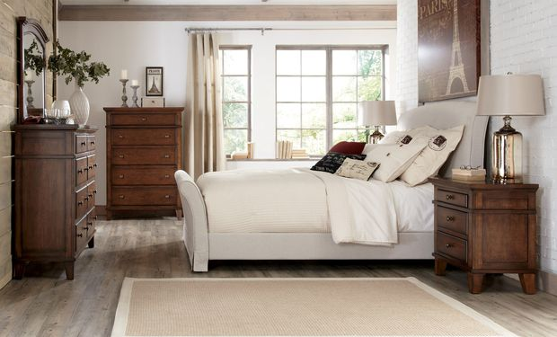 Bedroom with Upholstered Pieces